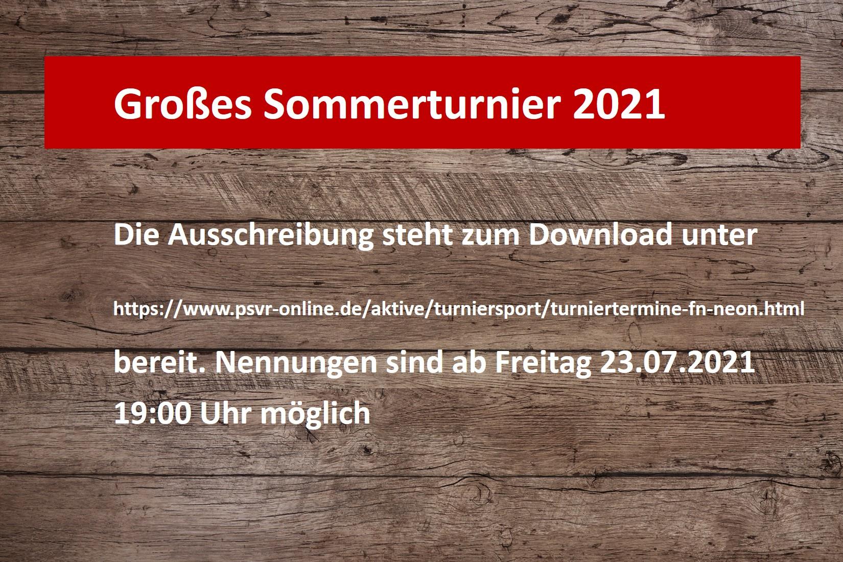 Sommerturnier 2021